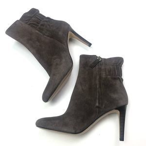 Nine West Suede Stiletto Ankle Boots